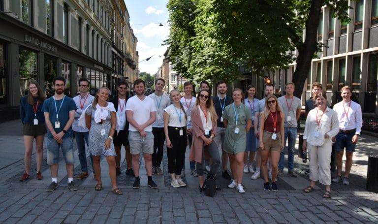 Gruppebilde av sommerstudentene 2020