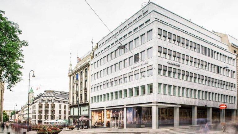 Kontoret i Akersgata fra utsiden