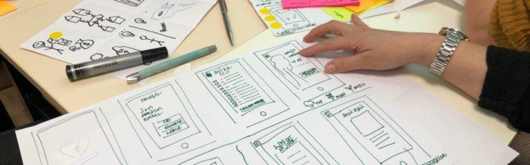 Skisser av digital løsning