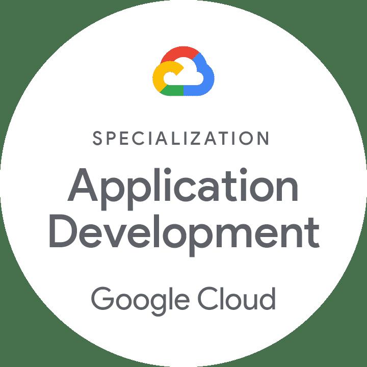 Partner badge for specialization in application development