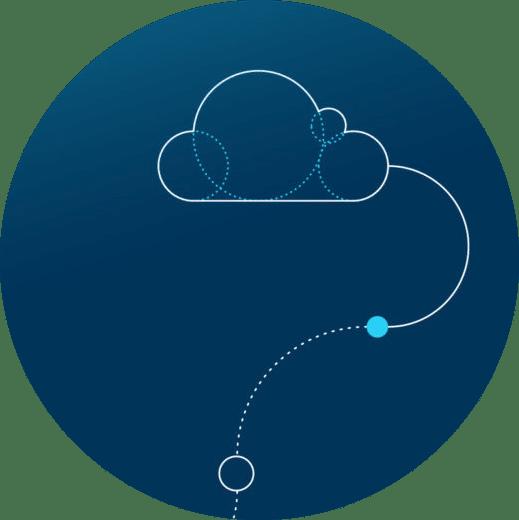 Grafisk illustrasjon av sky
