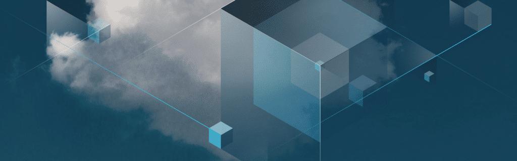 Grafisk illustrasjon av skyer og kubernetes containere